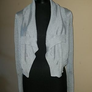 Forever 21 gray crop top cardigan size small